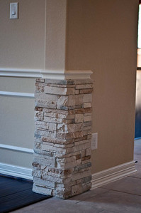 Dining with Stone Columns