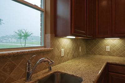 12. Under mount Sink and Tile Backsplash