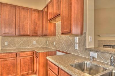 Maple Cabinets and Tile Backsplash