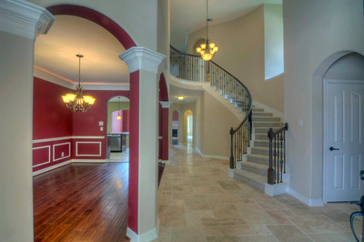 Front Entry with Travertine Floors
