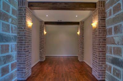 Wooden Beams and Custom Lighting