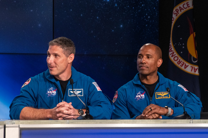 SpaceX PCM-1 astronauts Mike Hopkins and Victor Glover