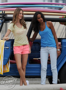 Behati Prinsloo And Gracie Carvalho In Victoria's Secret  Beach Photo Shoot