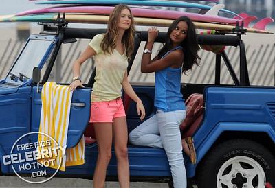 Behati Prinsloo And Gracie Carvalho In Victoria's Secret  Beach Photo Shoot