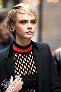 Cara Delevingne Shows Off Hand Tattoos In See Through Top Towering Over Ashley Benson!