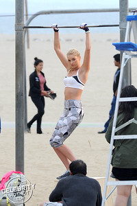 EXC: Elsa Hosk Poses For Victoria Secret's VSX Sports Wear Shoot