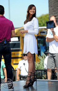 Irina Shayk Wearing White With Epic Strapped Heels, LA