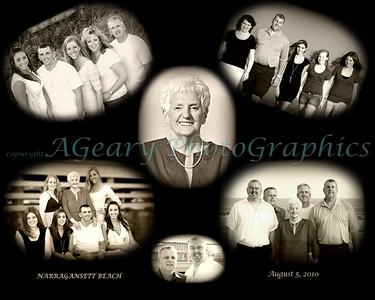 Multi-Generational Photo Shoot at Narragansett Beach.