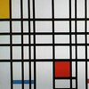 Composition with yellow blue and red by Mondrian
