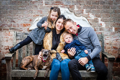 Portraits in Petersfield with happy families