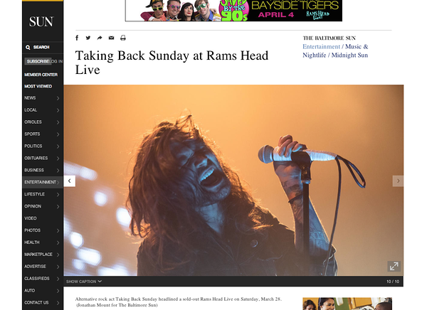 Taking Back Sunday - Baltimore Sun