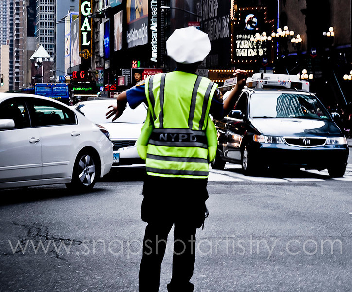 Photography by Mel Reyes-Abbey :  -  NYPD hard at work