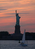 Photography by Carol A. Marinas : New York City -  Statue of Liberty at Sunset