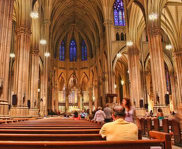 Photography by Carol A. Marinas : New York City -  Inside St. Joseph\'s Church