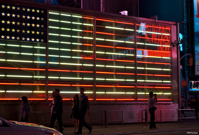 Photography by Karen Johnson :  -  Neon Flag