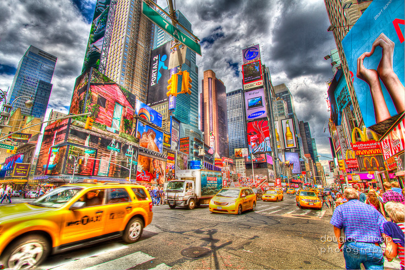 NYC Times Square  - HDR captures the frenetic pace of this spot with it\'s rich colors.