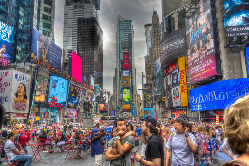 Photography by Kenneth E. Lee :  - Tourists Visiting Times Square and the Theater District