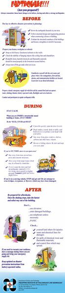 Phivolcs' infographic on earthquake preparedness