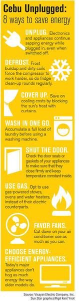 Infographics on power saving