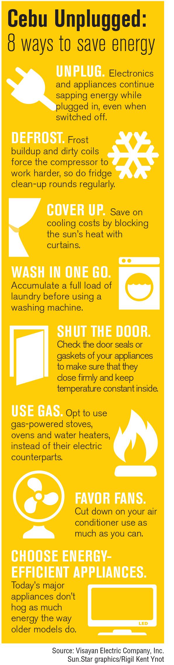 INFOGRAPHICS: Power saving tips