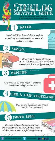 Sinulog survival guide infographic