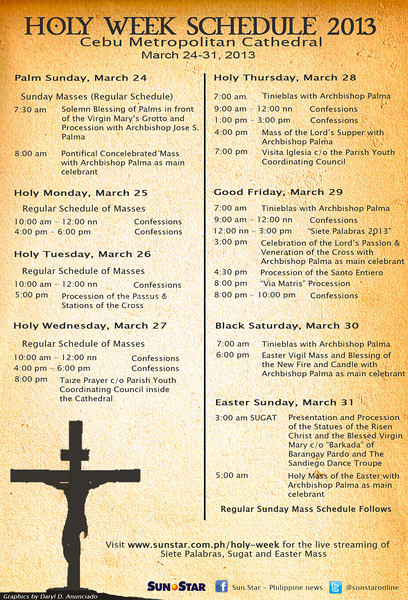 Cebu City's Holy Week Schedule 2013