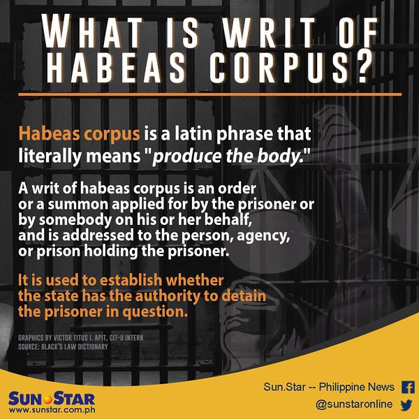 What is writ of habeas corpus