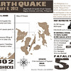 Infographics of the magnitude-6.9 earthquake that shook the Visayas last Feb. 6, 2012
