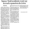 1999 Sarcee trail extension Residents