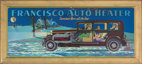 Francisco Heater Tin Sign (sold for $1,150 at auction - Dec. 2012)