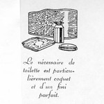 Ladies Toilet Case Drawing - French Promotional Booklet