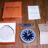 Phinney-Walker 8 Day Clock, original box, instructions and tag for Dealer installation