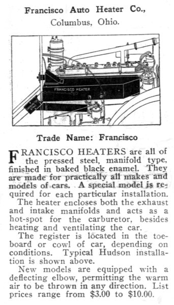 Francisco Heater Information