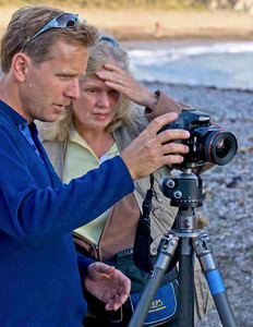 "Marc Muench, mentoring Margie on location at Montana De Oro State Park, CA<br />  <a href=""http://www.muenchphotography.com"">http://www.muenchphotography.com</a>"