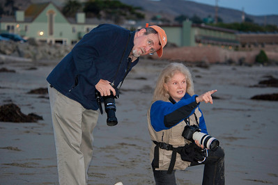 "Margie with mentor David H. Wells on location for a sunset shoot at Cayucos State Beach, CA<br />  <a href=""http://www.davidhwells.com"">http://www.davidhwells.com</a>"