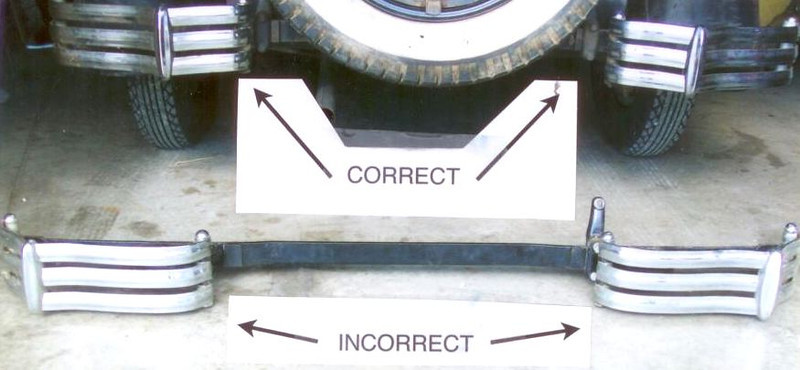 Split Rear Bumper - Correct Installation