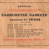 Marvel Gaskets - confirming the switch to a die cast bowl in 1928