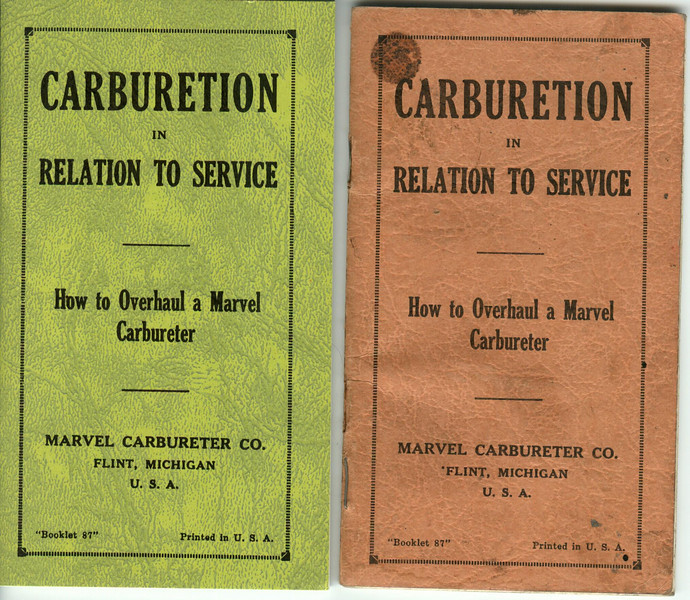Carburetion Bookletts