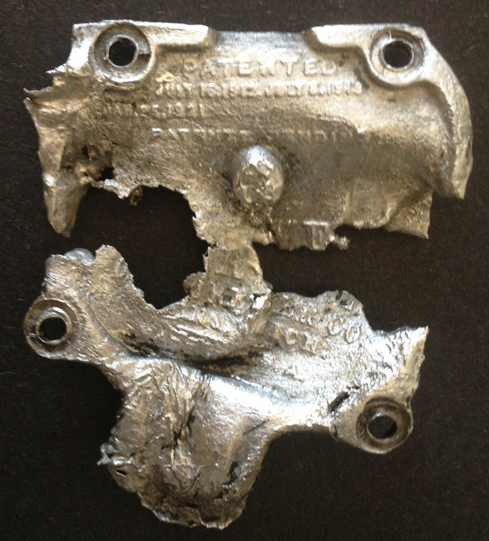Carb top after carb fire.