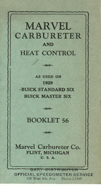 Marvel Car & Heat Control booklet  # 56