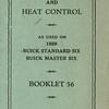 Marvel Car & Heat Control booklet  # 56