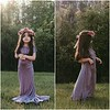 Children's Harper Gown in Dusty Amethyst with Matching Flower Crown