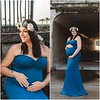 Sienna Gown in Teal - With Matching Flower Crown