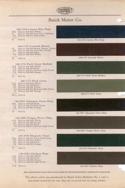 Dupont Color Bulletin No. 1 & 2 - Colour Chip Pg. #1A