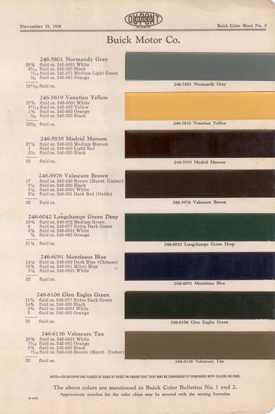 Dupont Color Bulletin No. 1 & 2 - Colour Chip Pg. #3