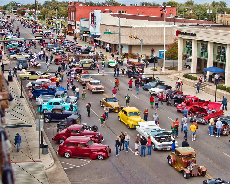 Car Show Downtown Taylor TX