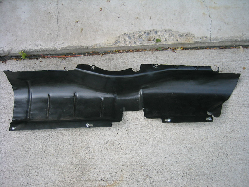 "Engine splash pans (Master 121"") - left side (from top)"