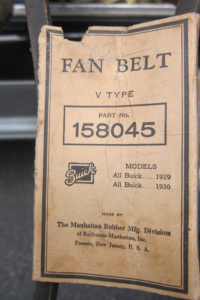 29 Buick Replacement Fan Belt (John Tuthill Collection)