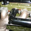 '29 Buick manifolds, with Belleville washers. Lock washers missing and should be used.