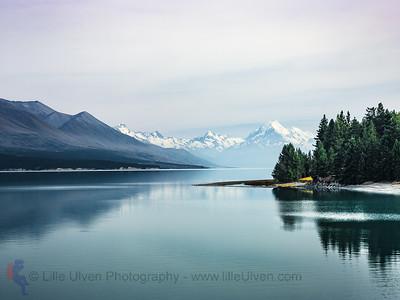 Lake Pukaki im Nebel
